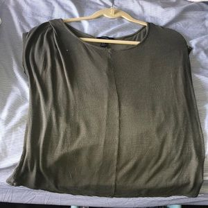 short sleeve olive green shirt